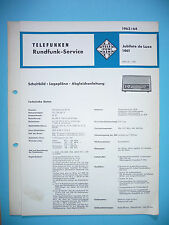 service Manuel d'instructions pour TELEFUNKEN Jubilate de luxe 1461,ORIGINALE