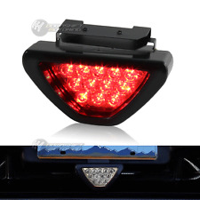 Universal SPORTY F1 Style Triangle 12 LED Rear Stop Tail 3rd Brake Light - Clear