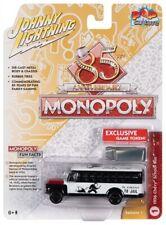 Johnny Lightning  Pop Culture Monopoly 1956 Chevrolet School Bus & Token JLSP092