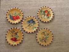 NEW!! LENOX set of 5 salad plates in Winter Greetings Everyday—various birds.