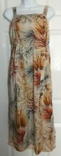 size 16 primark floral print sleeveless sun  maxi dress