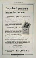 1917 Parke Davis Detroit Dental Germicidal Soap Art Vintage Print Ad