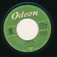 """THE BEATLES 45 TOURS 7"""" GERMANY YES IT IS"""