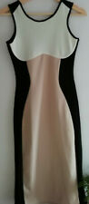 FD30) Ladies bodycon dress size 8 Missguided Fashion black white champagne sexy