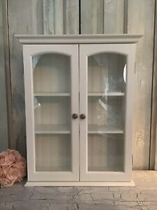 Curio Cabinet W/ Shelves And Glass Doors. Tabletop Display Or Wall Hanging.