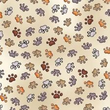 Doggie Dear Delight Paw Prints Bone by Loralie Cotton Quilting Fabric 1/2 YARD