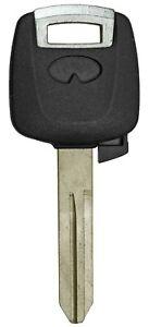 Key Shell No Chip For Infiniti NI02 NI04 w/ Transponder Holder and Uncut Blade