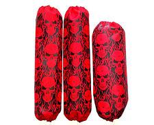 Shock Covers Yamaha Banshee Red Skulls ATV Set of 3