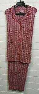 NWT WOMEN'S CABERNET SLEEPWEAR PAJAMAS PANTS SET PLUS Size 3X Buttons Front NWT
