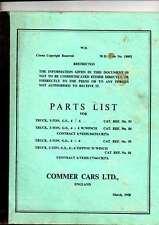 PARTS LIST TRUCK 3-TON G.S 4X4  G.S 4X4 W/WINCH ETC COMMER CARS LTD MARCH 1958