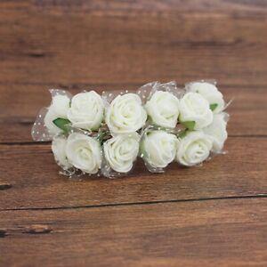 144PCS PE Foam Artificial Flowers Lace Fake Rose Bouquet DIY Wedding Party Decor