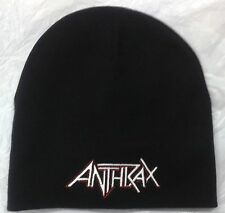 Beanie Anthrax Band Logo Embroidered Cd Thrash Metal