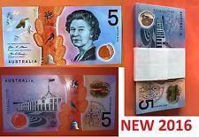 2016 $5 Banknote AA First Prefix New Generation - UNC r224f Mc311/1