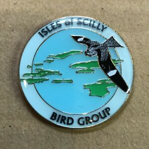 Isles Of Scilly Bird Group Logo Pin Badge - Enamel Pin Badge