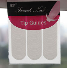 10 Packs French Stencil Nail Art Form Fringe Guides Manicure Stickers Tips Tape