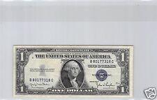 USA SILVER CERTIFICATE $1 DOLLAR 1935 D B-G N° 80177318 PICK 416D2