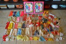 Vintage Barbie Huge Lot 100+ pieces 60's to 70's Clothing Accessories Ken Trunk
