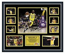 LEBRON JAMES LA LAKERS SIGNED PHOTO LIMITED EDITION FRAMED MEMORABILIA