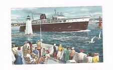 """Antique Post Card Chessie Steamboat Steamer """"Badger"""" Michigan to Wisconsin"""