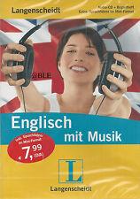 Englisch mit Musik + Audio CD + Begleitheft + Langenscheidt + Sprachführer +