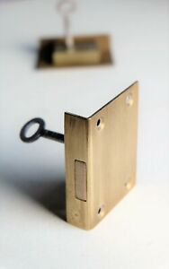"SECURE 4 LEVER Brass Cut Drawer LOCK 1 15/16"" x 2 1/2"""
