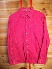 Men's PS Paul Smith Pink Shirt Slim Large Polkadot