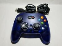 Clear Blue S Type Controller Microsoft Original Xbox Controller Offbrand