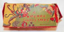 A Merry Christmas Vintage Cardboard Box of Childs Paints As Is Adorable Toy