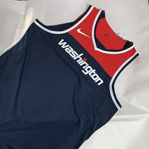 NWT auth NIKE Aeroswift NBA size 52XL +4 blank WASHINGTON WIZARDS jersey PRO CUT