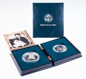 1995 Civil War Battlefield Proof Silver and Clad Half Dollar Set with Box & CoA