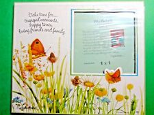 "Hallmark Marjolein Bastin Natures Sketchbook Butterflies 4""x4"" Photo Frame Nip"