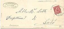 P7147   Brescia, Caino, annullo ottagonale 1888