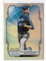 2019 Bowman Sterling baseball BPR-48 Brady Singer refractor 163/199 Kansas city