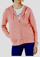 WOMEN'S NIKE NSW FULL ZIP HOODIE DUSTY PINK CI1148-685 Size Medium