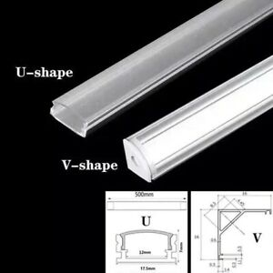 12pcs led light strip cover & aluminum channel diffuser for new housing profile