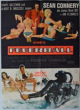 Sean Connery James Bond 007 FEUERBALL A-Motiv, Erstdruck 1965