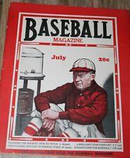 July 1930 Baseball Magazine Grover Cleveland Alexander Babe Ruth Al Simmons HOF