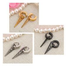 Stainless Steel Hoop Earrings Men Women Triangle Drop Dangle Charms Earrings