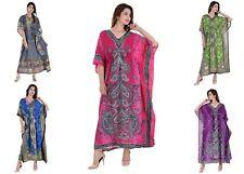 5 Wholesale Lot New Tunic Women Kaftan Maxi Beach Dress One Size Plus Caftan