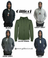 NEW MENS GILLICCI FLEECE ZIP WARM HOODIE HOODED SWEAT SWEATSHIRT JUMPER