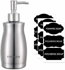 FOPONKM Soap Dispensers 304L Stainless Steel Bottle with Rust Proof Pump, Unique