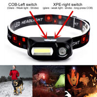 6 Modes USB Rechargeable COB LED Head lamp Headlight Head Light Torch Flashlight