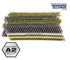 2200 Rundkopf Streifennägel Nägel plast 31x65mm ring rostfrei A2 Linsenkopf 20°