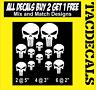 0040    punisher style skull  decal sticker
