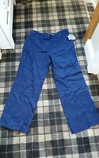 bnwt liz claiborne navy linen trousers size 16
