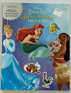 Disney Princess Sticker Activity Book 500 Stickers 3 Big Posters (Mermaid etc)