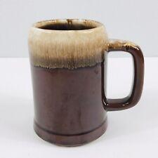McCoy Pottery Coffee Mug Beer Stein Brown Drip Glaze #6395 USA *READ*