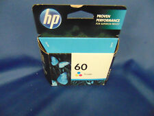 HP Tri Color ink cartridge #60 blue red yellow printer home office student's