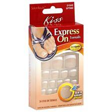 KISS Express On Toenails 24 ea (Pack of 6)