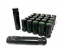 20 BLACK SPLINE LUG NUTS 14X1.5 | DODGE MAGNUM CHARGER | CHEVY CAMARO 08+ CTS
